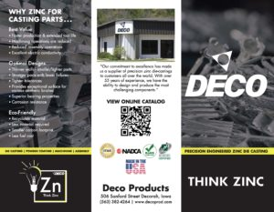 Deco Products Trifold Brochure