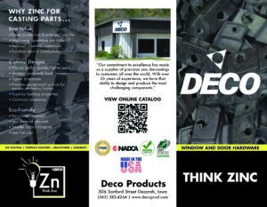 Deco Products WD Trifold Brochure